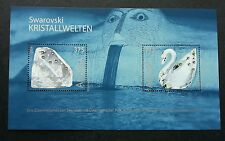 Austria Swarovski Crystal Worlds 2004 Swan (ms) MNH * real crystal *unusual Rare