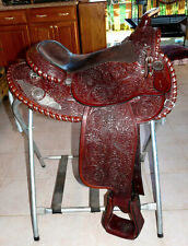 "15"" Hand Tooled Billy Royal Arab Arabian Show Trail Saddle"