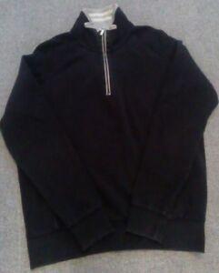 HUGO BOSS Green Label Black 1/3 zip  Sweatshirt Top Size med