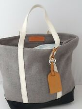 VANESSA BRUNO CABAS in grey fabric and leather-  Size M - BORSA SAC