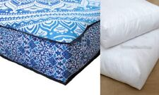 "35""Square Mandala Floor Cushion Cover Meditation Cotton Pillow Cover With Insert"