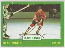 STAN MIKITA 1973-74 Topps Hockey card #145 Chicago Blackhawks EX-