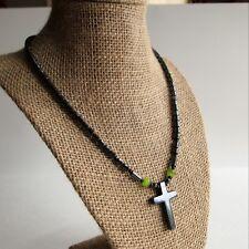 Marcasite Necklace Cross Pendant K24