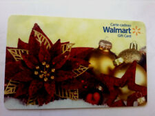 WALMART CHRISTMAS ORNAMENT GOLD/RED COLLECTIBLE GIFT CARD FD-49026