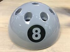 Giant Silver 8 ball Cue stand holds up to 9 Faciaux