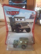 Disney Pixar Cars Sarge-rare 1st series international 16bk desert card.