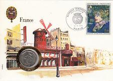 superbe enveloppe FRANCE Moulin rouge pièce monnaie 2 Francs 1979 new unc neuve