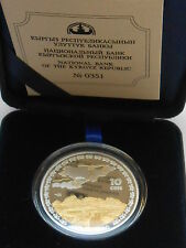 Kyrgyzstan Kirgistan 10 som 2009 Mountain Great Silk Road  Silver mint.1500