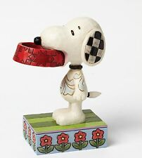 "Peanuts - Snoopy Dog ""More Food Please"" by Jim Shore  NEW"
