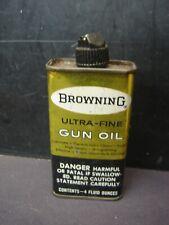 Vintage  Browning Ultra Fine Gun Oil 4 Oz Tin Can