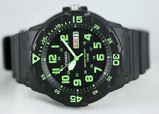 Casio MRW-200H-3BV Analog Watch Green Black 100M WR Day and Date Neo Display New