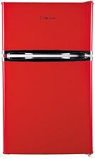 Grade A - Russell Hobbs RHUCFF50R 50cm Wide Red Under Counter Fridge Freezer.