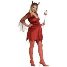 Maternity Halloween Costumes DEVIL LADY Adult Std Size Mommy to Be Fancy Dress