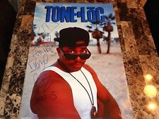 Tone Loc Signed Poster Wild Thing Rap Old School Hip Hop Legend + EXACT Photo !