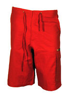 Shorts Bermuda Shorts Pacific Trail Capri Red Linen Cotton Man S