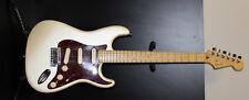 Fender American Deluxe Stratocaster White Pearl S1 Elite Nice USA Hardcase