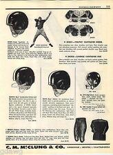 1957 ADVERT Ralph Guglielmi Football Bubble Ear Helmets Notre Dame All American