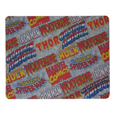 HQ1 MARVEL COMICS LOGOS Spider-Man Wolverine HULK CAP  MOUSE PAD 9 X 7inch USA