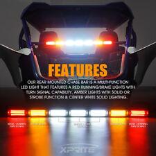"""30"""" UTV LED Strobe Light Bar Rear Chase  with Brake Reverse Light for RZR ATV"""