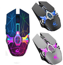2.4GHz Gaming Mouse USB LED Light Optical Ergonomic Rechargeable Wireless