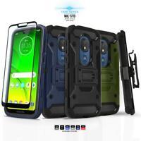 for MOTOROLA MOTO G7 POWER, [Tank Series] Phone Case Shockproof Covers & Holster