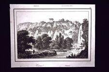 Veduta di Edessa, Grecia Incisione del 1850 L'Univers pittoresque