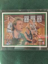 Larry Bird Autographed 8x10 Photo Litho Upper Deck