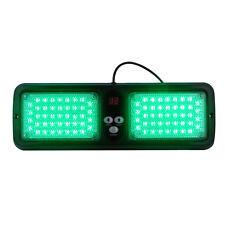 86LED Car SUV Bright SunShield Lamp Emergency Flash Strobe Sun Visor Light Green