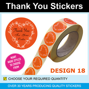 35mm Orange Thank You for Your Order Stickers / Labels - Only for 120