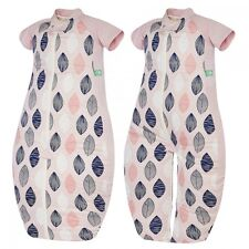 ergoPouch 1.0 Tog Baby Sleeping Suit Bag 2-12 Months - Pink Leaf