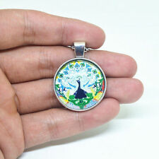 Vintage Peacock Cabochon Tibetan Silver Pendant LAST ONE AND REDUCED !