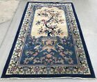 """AN AWESOME  FLORAL ART DECO CHINESE RUG 4' X 6'8"""""""