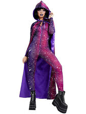 Ladies Galactic Cape Womens Space Galaxy Fancy Dress Costume Halloween Accessory