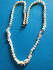 Vintage Collier Perles de Nacre / Mother of Pearl Beads Necklace