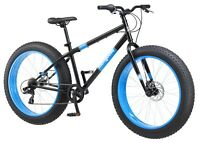 Mongoose Dolomite Men's Fat Tire Bike, 26-inch wheels, 7 speeds, Black