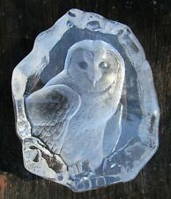 Mats Jonasson Owl Crystal Sculpture Signature Collection Signed Numbered #2538