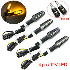 Honda VFR750 800 CB500F 4pcs 3+6 Double Side LED Turn Signal Light Lamp Amber