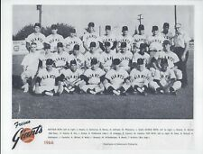 Lot of 2 Fresno Giants California League Reproduction Team Photos - Bobby Bonds