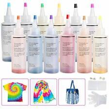 Ucradle 12pcs Tie Dye Kit, Tie-Dye Kit Fabric Textile Paints Vibrant Fabric