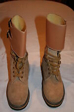 US WW2 Army Leather Double Buckle BOOTS - WW2 Repro size 9