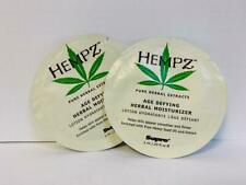 Hempz Age Defying Herbal Moisturizer .25 oz X2 Sample Packs