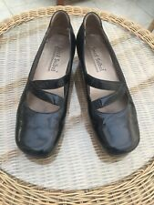 Ladies Black Leather Josef Seibel Mary Jane Shoes Size 5