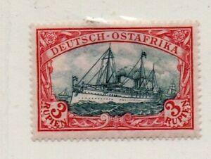 A Very nice unused German East Africa 3 Rupien Yacht issue