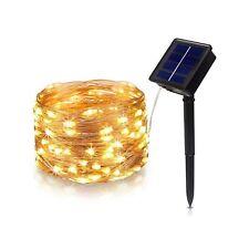Tasodin Solar Powered LED String Lights, 32.8Ft/10M 100LEDs, Solar Fairy Ligh...