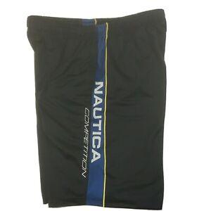 Shorts Nautica Competition Trunks Men's Basketball Navy Vtg Xl Pockets 32 x 10.5
