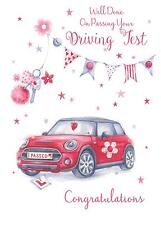 Well Done On Passing Your Driving Test Female Car Design Modern Greeting Card