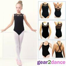 Girls Black Leotard for Ballet and Dance from UK Stock gear2dance