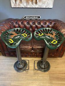 John Deere Tractor Seat Bar Stools - Breakfast Bar, Pub, Man Cave - Seat