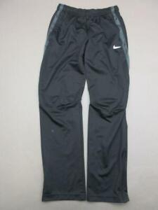 Nike Size M Womens Black Athletic Dri-Fit Side Pockets Training Track Pants T449