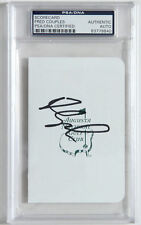 FRED COUPLES  HAND SIGNED AUGUSTA NATIONAL SCORECARD - MASTERS CHAMPION